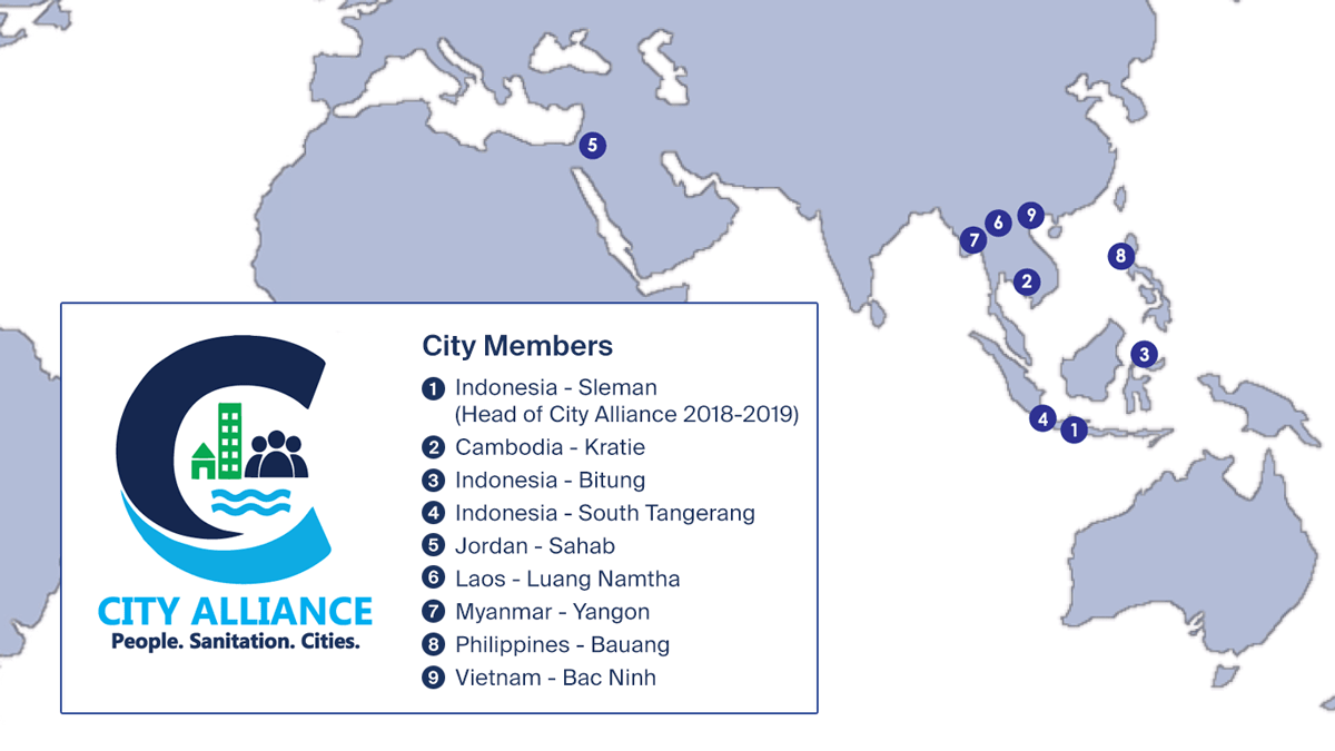 Map: City Alliance People-Sanitation-Cities